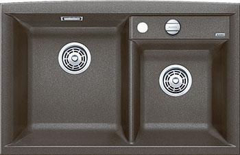 Кухонная мойка BLANCO AXIA II 8 SILGRANIT кофе с клапаном-автоматом чаша слева  мойка axia ii 6 s f rock grey 518834 blanco
