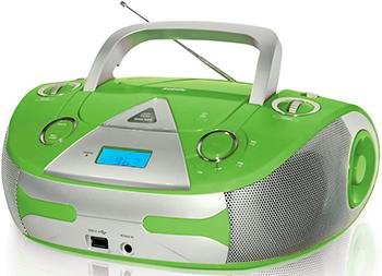 Магнитола BBK BX 325 U зелёный /серебро
