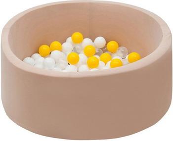 Бассейн сухой Hotnok Ванильные лучики с 200 шарами в комплекте: бел прозр желт sbh 056 туристический коврик shengyuan sy 056 200 200 3 4