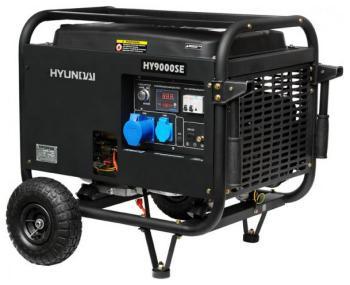 Электрический генератор и электростанция Hyundai HY 9000 SE  генератор бензиновый hyundai hy 9000 ser