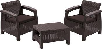 Комплект мебели Keter Corfu weekend 17197786 стол сундук circa storage rattan table 132l keter