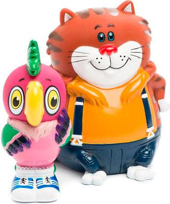Набор игрушек для купания Затейники GT 5979 Кеша и Кот в пакете
