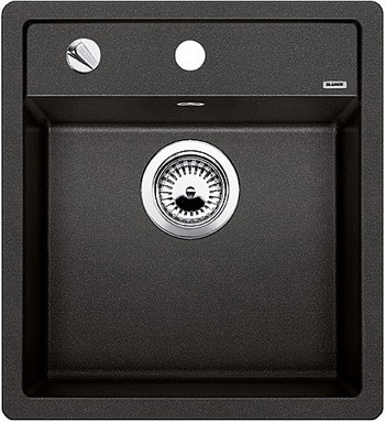 Кухонная мойка BLANCO DALAGO 45-F SILGRANIT антрацит с клапаном-автоматом кухонная мойка blanco dalago 45 f silgranit алюметаллик с клапаном автоматом