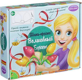 Набор для шитья Bondibon Шить - просто! Волшебный букет ВВ1371 наборы для шитья bondibon набор для творчества bondibon студия дизайна шьем для любимой куклы