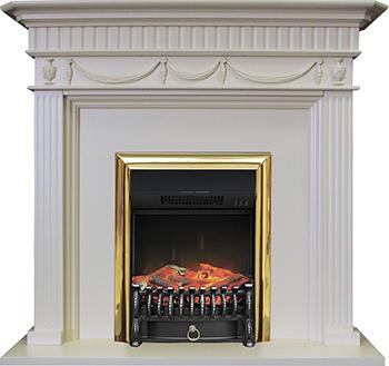 Каминокомплект Royal Flame Corfu с очагом Fobos BR сл.кость royal flame fobos fx brass rb std5brfx 64905218