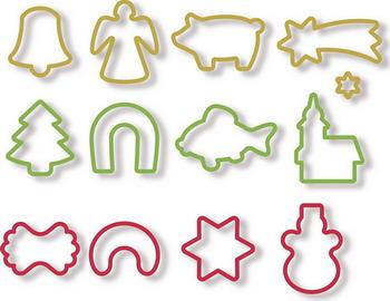 купить Формочки для рождественского печенья Tescoma DELICIA 13шт. 630902 по цене 507 рублей