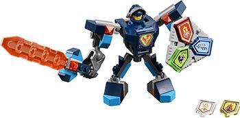 Конструктор Lego Nexo Knights Боевые доспехи Клэя 70362-L канцелярия lego nexo knights набор канцелярских принадлежностей 13 шт
