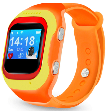 Детские часы-телефон Ginzzu 14224 501 orange 0.98'' micro-SIM children s smart watch with gps camera pedometer sos emergency wristwatch sim card smartwatch for ios android support english e