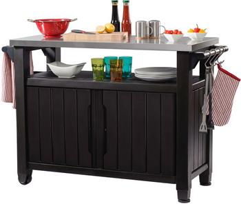 Стол для гриля Keter UNITY XL 183 L коричневый 17202662 стол portland keter