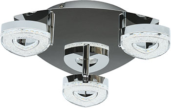 Купить Люстра потолочная DeMarkt, Этингер 704011103 3*4W LED 220 V, Китай