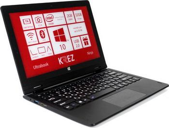 Ноутбук KREZ Ninja TM 1102 B 32 ноутбук cloudbook krez n1401