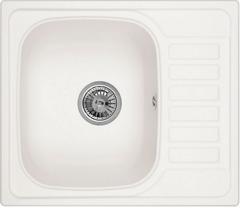 Кухонная мойка Weissgauff QUADRO 575 Eco Granit белый  weissgauff quadro 575 eco granit серый беж