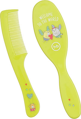 Расчески для волос детские Happy Baby BRUSH COMB SET 17000 LIME