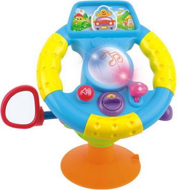 Музыкальный руль Huile большой погремушки huile toys осьминог