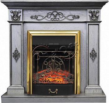 Каминокомплект Royal Flame DERBY с очагом Majestic BR old silver mcr safety flame resistant