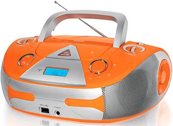 Магнитола BBK BX 325 U оранжевый /серебро аудиомагнитола bbk bx325u оранжевый серебро