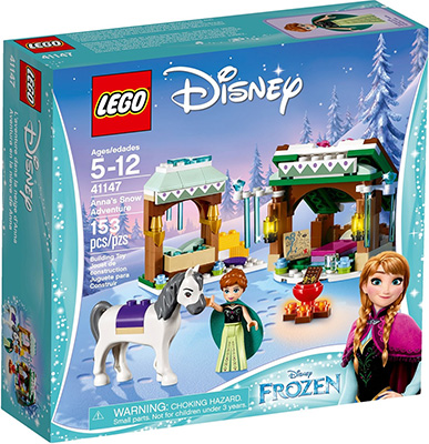 Конструктор Lego Disney Princess Принцессы Дисней Зимние приключения Анны 41147 mattel disney princess кукла принцессы дисней золушка с развевающейся юбкой chg56