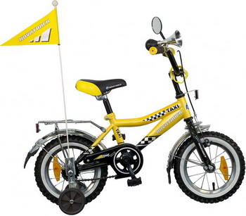 Велосипед Novatrack 12  R  TAXI черный/желтый детский велосипед novatrack х21010 taxi yellow