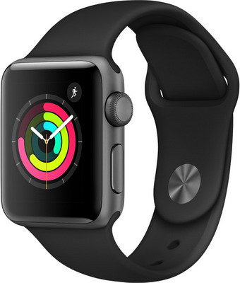 Часы Apple Watch Series 3 38 mm Grey Al Black (MQKV2RU/A) logitech h110 stereo headset headphone w mic noise cancelling