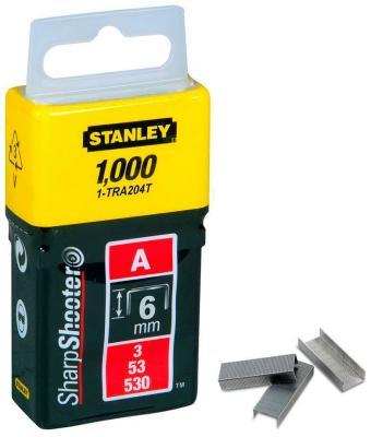 Скоба для степлера Stanley 6 мм тип ''А'' (5/53/530) 1000шт 1-TRA 204 T мебельные петли скобы замки dorabeads jewelry hingesantique 6 5 6 x 4 1 10 2015 b56362