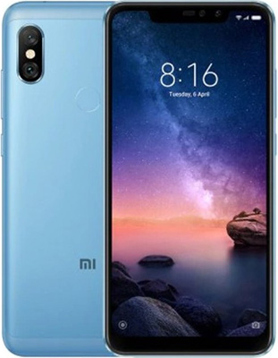 Мобильный телефон Xiaomi Redmi Note 6 Pro 64 GB синий