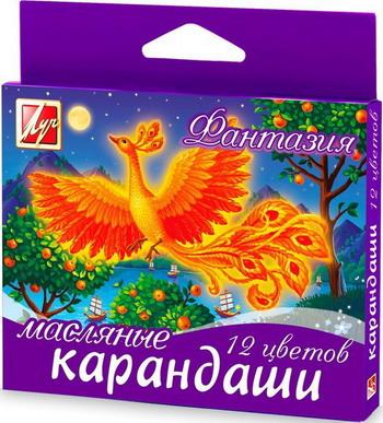 Карандаши масляные ЛУЧ Фантазия 12 цветов 25С1520-08 карандаши