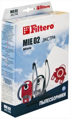 Набор пылесборников Filtero MIE 02 (3) ЭКСТРА набор фильтров filtero fth 32 mie hepa для miele