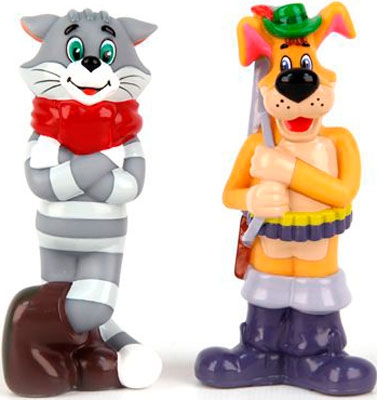 Набор игрушек для купания ЗАТЕЙНИКИ GT 5981 Кот и Пёс в пакете