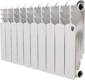 Водяной радиатор отопления Royal Thermo Revolution Bimetall 350 - 10 секц. royal thermo биметаллический revolution bimetall 500 8 секций