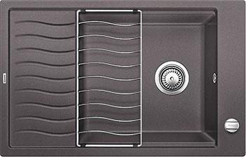 Кухонная мойка BLANCO ELON XL 8 S серый беж мойка кухонная blanco elon xl 6 s шампань с клапаном автоматом 518741
