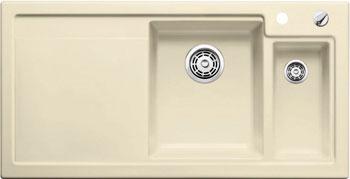Кухонная мойка BLANCO AXON II 6 S КЕРАМИКА (чаша справа) жасмин PuraPlus с клапаном-автоматом  blanco eloscope f ii хром