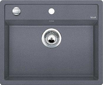 Кухонная мойка BLANCO DALAGO 6-F SILGRANIT темная скала с клапаном-автоматом кухонная мойка blanco dalago 45 f silgranit жасмин с клапаном автоматом