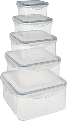 Набор контейнеров Tescoma FRESHBOX 5 шт квадратный 892044 набор контейнеров idea квадратные цвет салатовый 0 5 л 3 шт