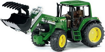 Трактор John Deere 6920 с погрузчиком Bruder 02-052 трактор bruder fendt 936 vario с погрузчиком 03 041
