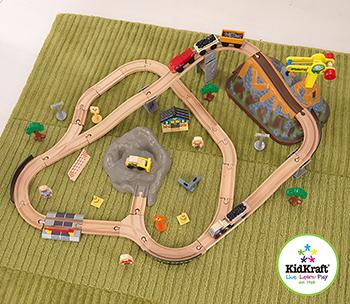 Деревянный игровой набор KidKraft Горная стройка 17805_KE kidkraft железная дорога деревянный игровой набор горная стройка в контейнере
