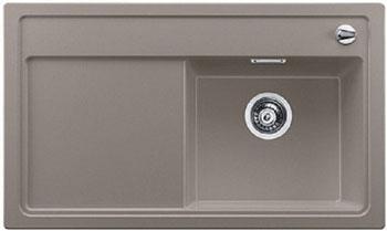 Кухонная мойка BLANCO ZENAR 45 S (чаша справа) серый беж с кл.-авт. InFino мойка кухонная blanco zenar 45s чаша справа белый с клапаном автоматом 519255