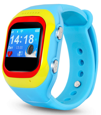 Детские часы-телефон Ginzzu 14222 501 blue 0.98'' micro-SIM children s smart watch with gps camera pedometer sos emergency wristwatch sim card smartwatch for ios android support english e