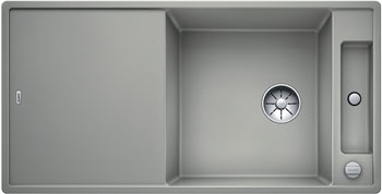 Кухонная мойка BLANCO AXIA III XL 6 S InFino Silgranit жемчужный (столик ясень) 523503 кухонная мойка blanco axia iii xl 6 s infino silgranit мускат столик ясень 523508