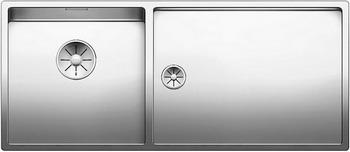 Кухонная мойка BLANCO CLARON 400/550-Т-U (чаша слева) нерж. сталь зеркальная полировка 521601 мойка claron 400 u 517213 blanco