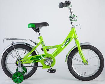 Велосипед Novatrack 143 VECTOR.GN8 14'' Vector зелёный велосипед novatrack 14 urban чёрный 143 urban bk8
