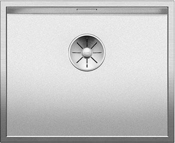 Кухонная мойка BLANCO ZEROX 500-U нерж.сталь Durinox с отв. арм. InFino без клапана авт 521559 кухонная мойка blanco zerox 400 u нерж сталь durinox с отв арм infino без клапана авт 521558