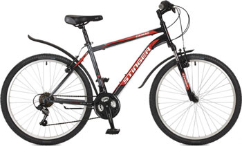 Велосипед Stinger 26'' Caiman 14'' черный 26 SHV.CAIMAN.14 BK7 велосипед stinger 26 caiman 14 зеленый 26 shv caiman 14 gn7