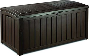 Фото Сундук Keter GLENWOOD STORAGE BOX 390 L коричневый 17193522