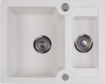 Кухонная мойка Kuppersberg MODENA 1 5B WHITE ALABASTER (7045)