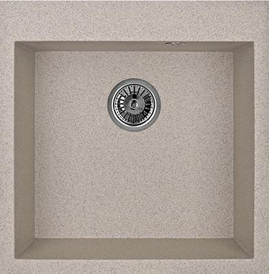 Кухонная мойка Weissgauff QUADRO 505 Eco Granit песочный  weissgauff quadro 420 eco granit песочный