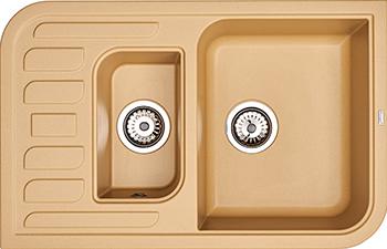 Кухонная мойка Weissgauff SOFTLINE 780 Eco Granit шампань  weissgauff midas granit шампань