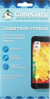 Защитное стекло CaseGuru для Alcatel One Touch Pixi First 4024 D чехол для alcatel one touch 5015d pixi 3 5 dual sim alcatel fc5015 case book серебристый