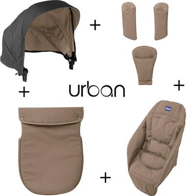 Набор аксессуаров Chicco Urban Beige chicco color pack 06079358990000 07co1403ant набор аксессуаров для коляски urban plus anthracite