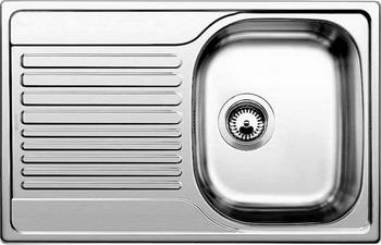 Кухонная мойка BLANCO TIPO 45 S Compact нерж. сталь полированная blanco tipo 8 compact нерж сталь матовая