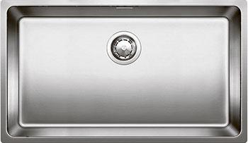 Кухонная мойка BLANCO ANDANO 700-U нерж. сталь зеркальная полировка с клапаном-автоматом  blanco claron 500 u нерж сталь зеркальная